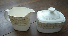 More details for vintage 1975s royal doulton bone china creamer sugar bowl h5039 paisley vgc