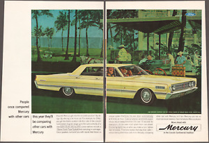 """1966 Lincoln Continental """"Comparing Other Cars"""" Vintage Print Art Advertisement"""