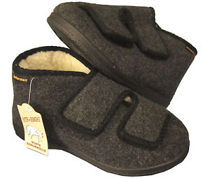 Slippers Comfortable Slippers Warm House Boots 2x Touch Fastener Wool 40-48