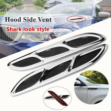 2*Shark Style Hood Vent Hood Side Vent Louver Cooling Panel Car Body Decoration