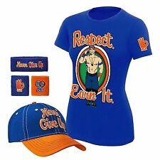John Cena Respect Womens WWE Baseball Hat Headband Wristbands Costume T-shirt