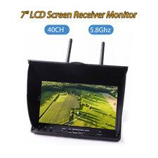 "FPV LCD Monitor Dual Diversity Receiver 7"" 5.8G 40CH Dual Antennas 800*480 AU!"