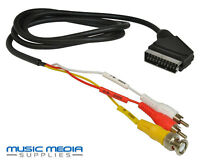 SCART to BNC Input and 2 Twin RCA/Phono Audio Video Cable Lead AV VCR CCTV