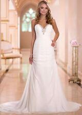 Elegante Vestido de Novia Sueño Estilo Campana Talla 34-44 Novia Vestido Perlas