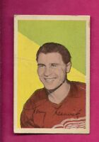 1952-53 PARKHURST # 65 RED WINGS TONY LESWICK GOOD CARD (INV# 9669)
