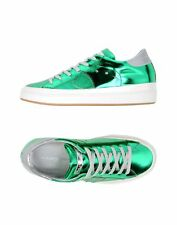 PHILIPPE MODEL NWT $490 Classic Lakers Metallic Emerald Green Sneaker Sz 9.5 US