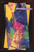 1984/1985 NBA Basketball Los Angles Lakers Media Guide EXMT