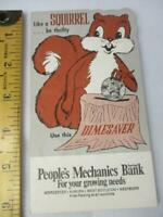 Vintage Peoples Mechanics Bank Squirrel Dimesaver Folder For Kids Savings A26