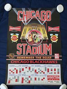 """Chicago Blackhawks 1993-1994 Season Schedule Poster 18"""" x 26"""""""