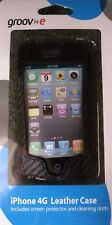 Groov-e GVIPHONE4L iPhone 4G Leather Case, Screen Protector & Cleaning Cloth