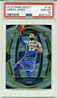 2018 LeBron James Lakers Panini SELECT #118 PSA 10 Gem MINT Population 23