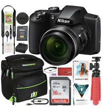 Nikon COOLPIX B600 16MP 60x Opt. Zoom Wi-Fi Digital Camera Black - Bundle