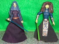 Star Wars Jedi Barriss Offee VC51 + Luminara Unduli ROTS31 Figure Lot - Used
