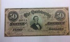 New listing 1864 $50 Confederate Note Richmond
