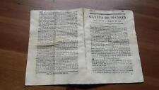1793 Gazeta de Madrid Núm 44 Viernes 31 Mayo Dresde Duque Osuna Dresde Varsovia