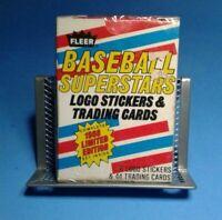 Fleer Baseball Superstars Logos and Stickers 44 Card Set 1988 Free Shipping