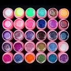 30 PCS Glitter Mix Color UV Gel Builder Set for Nail Art Tips pink New