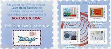 "Bloc collector de 4 timbres adhésifs Tab'agir 2014 ""non usage du tabac"""