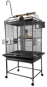 """A&E® 32""""x23""""x66"""" Play Top Bird Cage with 5/8"""" Bar Spacing"""