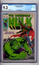 Incredible Hulk #112 CGC 9.2 OW/WP 'DEATH..of GALAY..MASTER'! Trimpe C & A!
