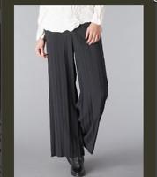 Babette Crop Urban Womens Pants Lagenlook Pleated Black Pants Black Medium M