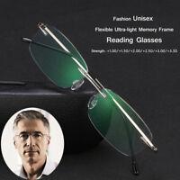 Fashion Lesebrille Randlos Ultraleichte  Titanium BrillenCare Magnetic Eyewear