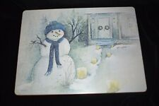 Pimpernel - 4 Large Snowman Placemats - Table Mats - NICE! - Christmas