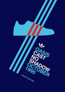 Oasis Cast 1995 ADIDAS CASUAL TRAINERS Advert Poster Wall Art Picture A4 +