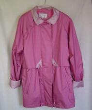 Womens Cambridge Short Trench Coat Jacket Med Pink Rose~Size M Medium~Spring