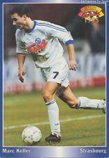 N°193 MARC KELLER # FRANCE RC.STRASBOURG CARD CARTE PANINI FOOT 1995