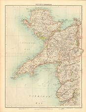 1898 ANTIQUE MAP - CARNARVON, ANGLESEY