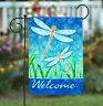Toland Dragonflies and Reeds 12.5 x 18 Welcome Dragonfly Insect Garden Flag