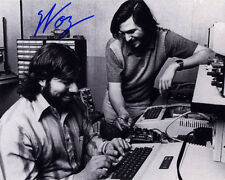 Steve Wozniak SIGNED 8x10 PHOTO + Steve Jobs + Apple II Computer AUTOGRAPHED
