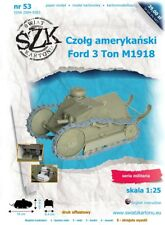 Paper model of Ford M1918 tank in 1:25 scale