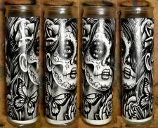 Prayer Candle Calavera Tattoo Art Sugar Skull Girl Decorative Home Decor Gothic