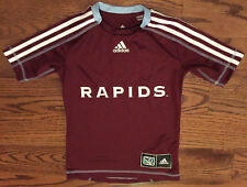 Colorado Rapids MLS Burgandy adidas CLIMALITE Soccer Jersey Youth Small