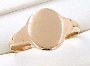 9k Men's signet RING_375 light Rose gold_1951 engraved inside ring