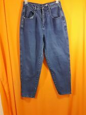 Vintage Brittainia Blue Jeans High Rise Tapered Legs Relaxed Fit size 14 Avg