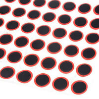 48pcs Rubber Patches Bicycle Motor Bike Tyre Tire Inner Tube Puncture Repair Kit
