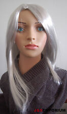 Womens Long Grey Silver Wig Quality UK SELLER Fast DISPATCH Design