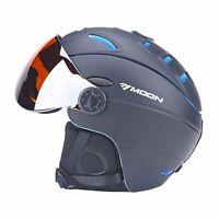 Ski Snowboard Helmet with Attached Detachable Photo-chromatic Polarizing Goggles