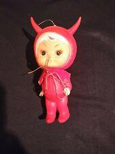 Vtg 1970 Kamar Japan Little Devil Rubber Figure Boy Girl White Hair Freckles