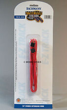 BACHMANN E-Z TRACK HO 10' RED POWER EXTENSION WIRE terminal wire connector 44498
