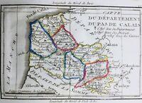 Pas de Calais en 1794 Boulogne sur mer Calais Montreuil Etaples Ambleteuse Arras