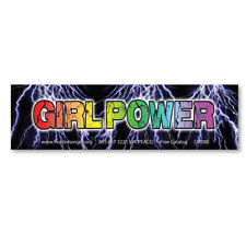 CM080 Girl Power Women's March Protest Rally Sign Color Lightening Mini Sticker