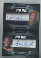 WILLIAM SHATNER AVERY BROOKS STAR TREK INFLEXIONS DUAL BOOKLET AUTO AUTOGRAPH SP