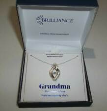 Brilliance Pendant Necklace with Swarovski Crystal, Grandma Gift Box