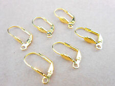 50PCS Making Jewelry Findings Gold Shell Square LeverBack Earrings Clasp Hooks