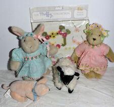 1994 Muffy Hoppy Vanderbear Flower Festival Pig Lamb Cow Rabbit Package Spring