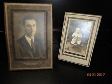Antique Vintage Early Photos~Man~ Baby Toddler in Walker~Tintype? Lot 2